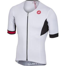 Castelli Free Speed Maillot de cyclisme sur route à manches courtes Homme, white